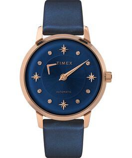 Reloj automático Celestial Opulence de 38mm con correa texturizada Tono oro rosa/Negro large