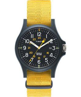 Reloj Acadia de 40mm con correa de tela Azul/Amarillo large