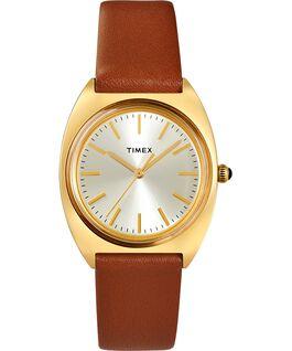 Reloj Milano de 33mm con correa de piel Dorado/Burdeos/Champán large