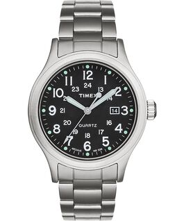 Reloj Allied de 40mm con correa metálica de acero inoxidable Plateado/Acero inoxidable/Verde large