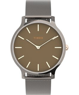 Transcend 38mm Stainless Steel Mesh Band Watch Gunmetal/Black large