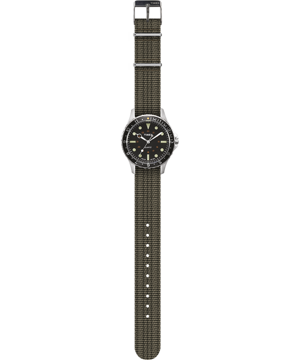 Reloj Navi Harbor de 38mm con correa de tela Oliva/Oliva large