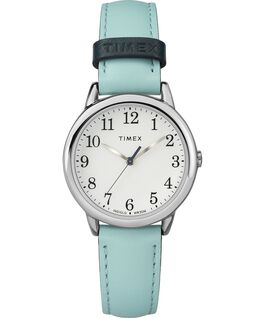 6a4a66a07953 Easy Reader Color Pop 30mm Leather Watch Womens Gold-Tone Blue White large