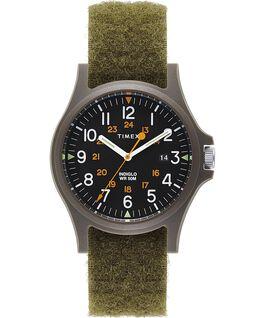 Reloj Acadia de 40mm con correa de tela con cierre de velcro Verde/Negro large
