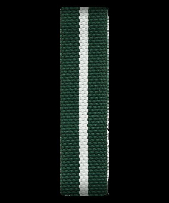 Correa deslizante de nylon color verde/blanco deslizante  large