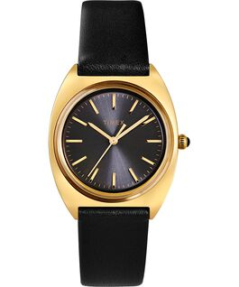 Reloj Milano de 33mm con correa de piel Dorado/negro large