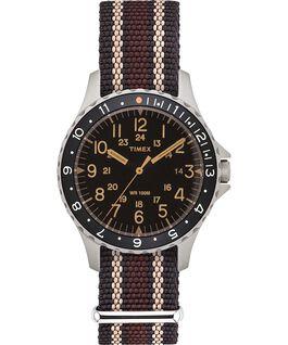 Reloj Navi Ocean de 38mm con correa de tela Black/Brown large