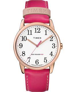 Reloj para mujer Easy-Reader Color Pop exclusivo de 38mm con correa de piel Tono oro rosa/Rosa/Blanco large