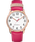 Reloj para mujer Easy-Reader Color Pop exclusivo de 38 mm con correa de piel Tono oro rosa/Rosa/Blanco large