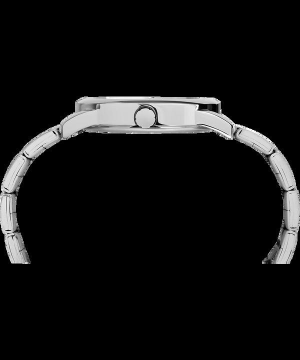 Reloj Easy Reader de 38mm con fecha y correa metálica Silver-Tone/White large