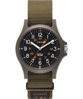 Reloj Acadia de 40mm con correa de otomán Verde/Negro large