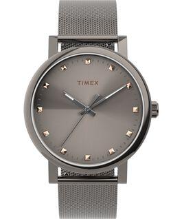 Reloj Originals de 38mm con correa de malla de acero inoxidable Gris plomo/Titanio/Gris large