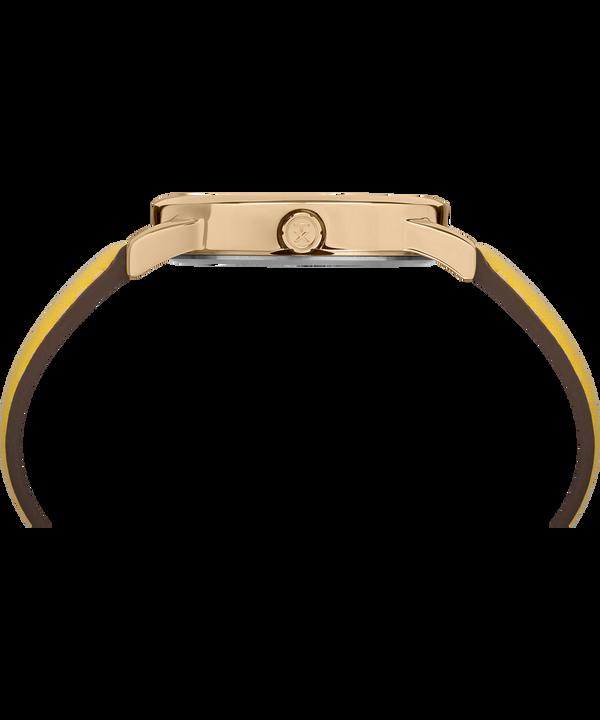 Reloj Easy Reader Color Pop de 38mm con correa de cuero Dorado/Amarillo/Crema large