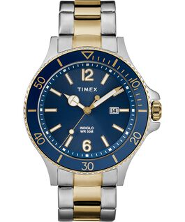 Reloj Harborside de 42mm con correa metálica Dos tonos/Azul large