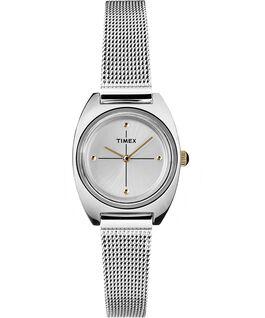 Reloj Milano pequeño de 24mm con correa de malla metálica Plateado/Acero inoxidable large