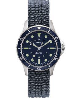 Reloj Navi Harbor de 38mm con correa de tela Azul/Azul large