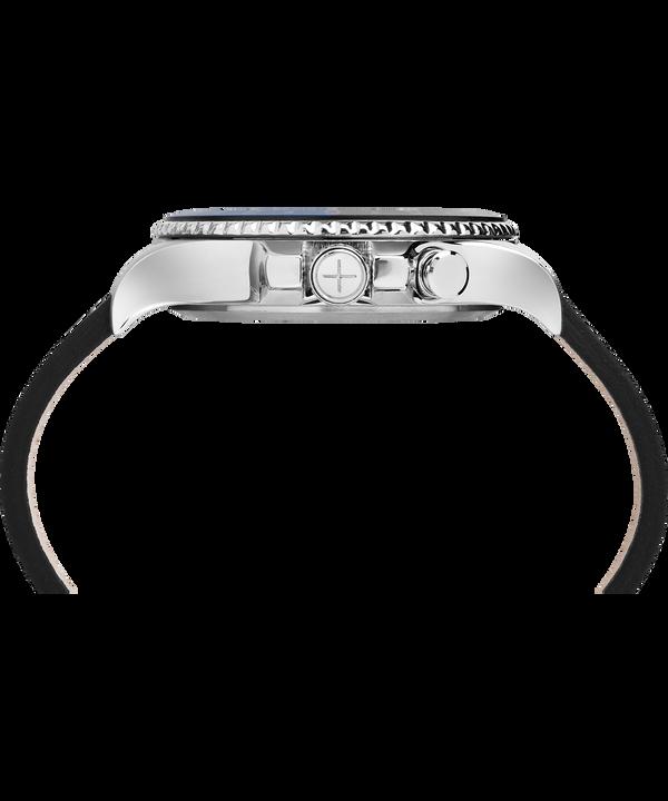 Reloj Allied Three GMT de 43mm con correa de cuero Stainless-Steel/Black large