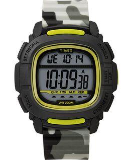 Reloj BST de 47mm con correa de silicona Negro/Camuflaje large