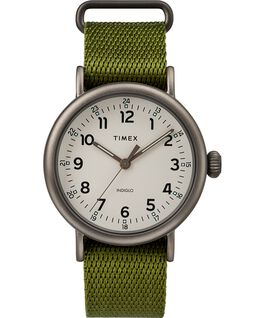 Reloj Standard de 40 mm con correa de tela Black/Green/Natural large