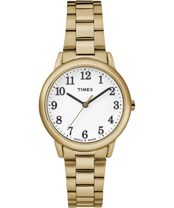Reloj Easy Reader de 30 mm con correa metálica Gold-Tone/White large