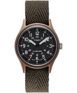 Reloj MK1 de 40mm con correa de tela Verde large