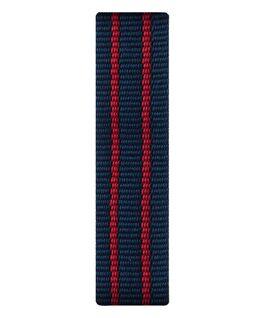 Correa de nylon color rojo/azul deslizante  large