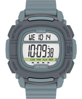 Reloj BST de 47mm con correa de silicona Gris/Azul large