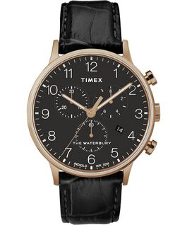 Waterbury-40mm-Classic-Chrono-Leather-Strap-Watch Rose-Gold-Tone/Black large