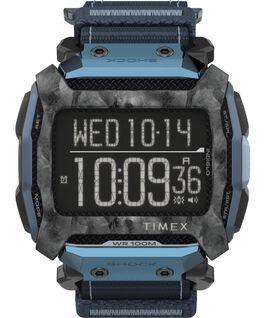 Reloj Command Shock de 54 mm con correa de tela de cierre rápido Negro/Azul large