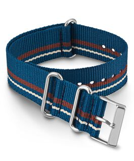 Correa deslizante de tela de doble capa de 20mm Azul large