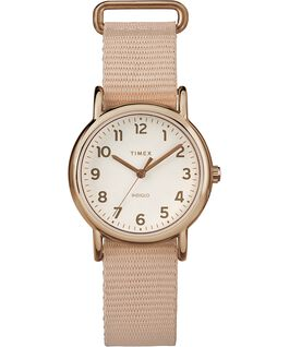 Reloj Weekender de 31 mm con correa de nylon Rose-Gold-Tone/Pink/Cream large