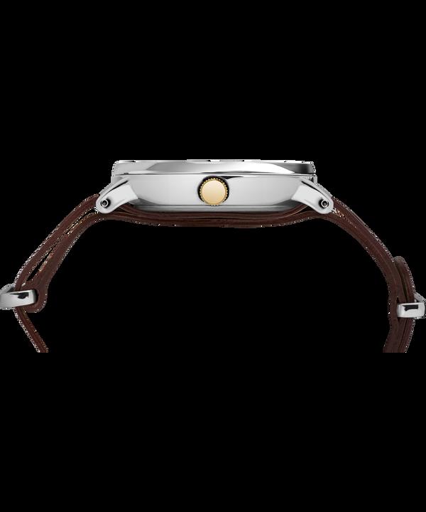 Reloj Southview de 41mm con correa de cuero Chrome/Brown/Cream/Gold-Tone large