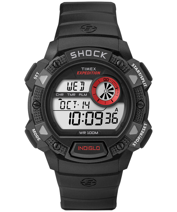 Reloj Expedition Base Shock de 45mm con correa de resina Black/Red large