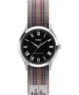 Reloj Whitney Avenue de 36mm con correa de otomán reversible-1 Acero inoxidable/Negro large