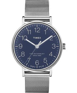 Waterbury 40mm Classic Stainless Steel Watch Stainless-Steel/Blue large