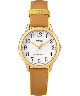 Reloj para mujer Easy-Reader Color Pop exclusivo de 30 mm con correa de piel Dorado/Oscuro/Amarillo large