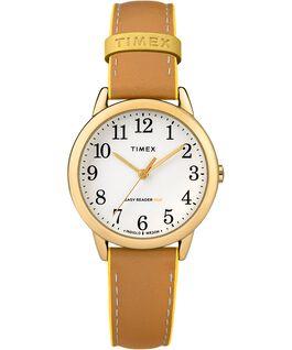 Reloj para mujer Easy-Reader Color Pop exclusivo de 30mm con correa de piel Dorado/Oscuro/Amarillo large