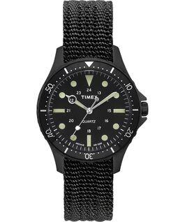 Reloj Navi Harbor de 38mm con correa de tela Negro/Negro large