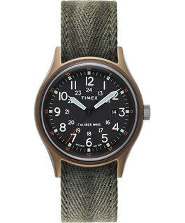 Reloj Archive MK1 de aluminio de 40mm con correa de tela Verde large