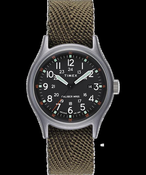 Reloj MK1 de 40mm con correa de tela Plateado/Verde/Negro large