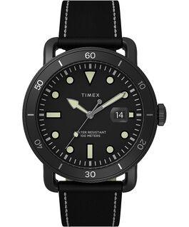 Reloj Port de 42mm con correa de piel Negro large