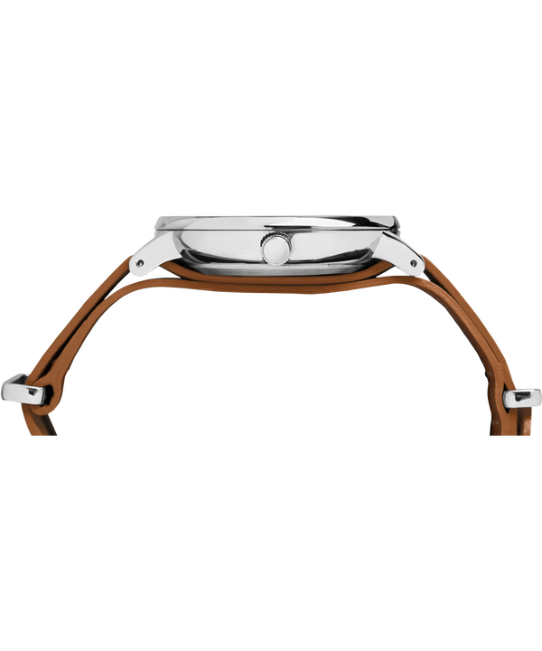 Reloj Fairfield de 41mm con correa de cuero deslizante Chrome/Brown/Black large