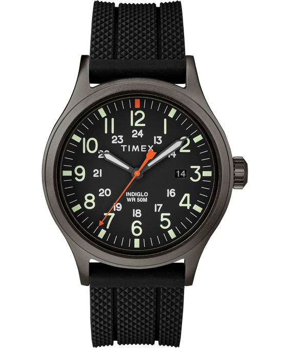 Allied 40mm Silicone Strap Watch