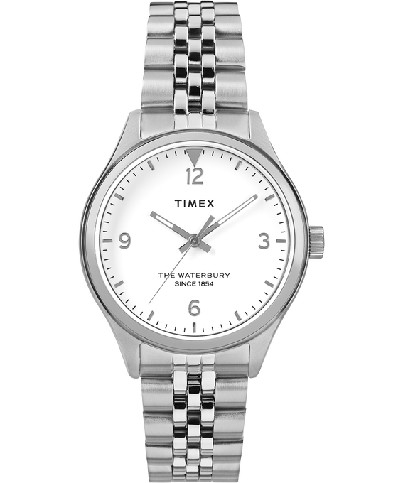 Waterbury Classic 34mm Watch Stainless Steel Stainless-Steel/White large