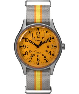 Reloj MK1 California de 40mm con correa de tela Plateado/Gris/Naranja large