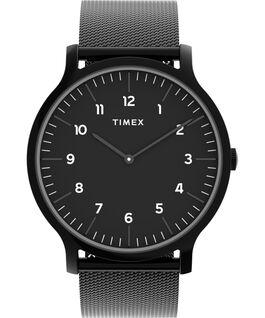 Reloj Norway de 40mm con correa de malla metálica de acero inoxidable Negro large