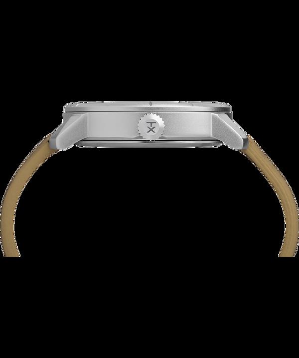 Mod44 Reloj de 44mm con correa de cuero Chrome/Tan/White large