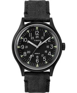 Reloj de acero MK1 de 40mm con correa de tela Negro large
