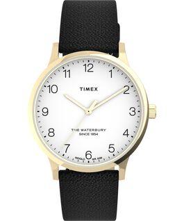 Reloj Waterbury Classic de 36mm con correa de piel Dorado/Negro/Blanco large