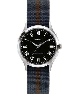 Reloj Whitney Avenue de 38mm con correa de tela reversible Acero inoxidable/Negro large
